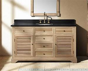 Natural wood bathroom vanities to complete a spa style for Spa style bathroom vanity