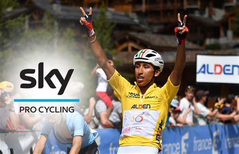 Egan bernal es el primer latinoamericano en ganar el tour de francia, convirtiéndose en el tercer ganador más joven de la historia con 196 días. Egan Bernal se unirá al Team Sky, así lo confirmo Froome! - Noticiclismo