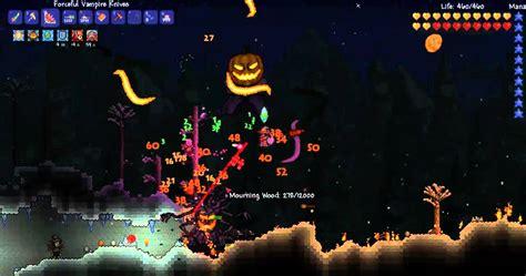 Terraria Halloween Event Arena by Terraria Halloween Update 1 2 1 Pumpkin Moon Youtube
