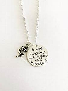 disney inspired beauty and the beast necklace quotuntil the With disney necklace with letter
