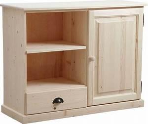 Meuble Bois Brut : meuble tv en bois brut ~ Teatrodelosmanantiales.com Idées de Décoration