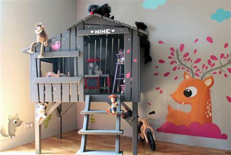 fresque murale chambre fille fresque murale decoration chambre enfant idées déco