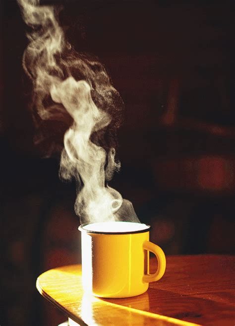 Waiting, coffee is a good option. Steaming cup of coffee gif | Coffee gif, Tea gif, Good ...