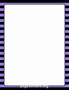 Purple and Black Striped Border: Clip Art, Page Border ...