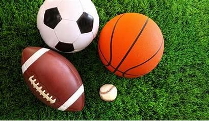Balls Sport Grass Background Multi Assortment Ball