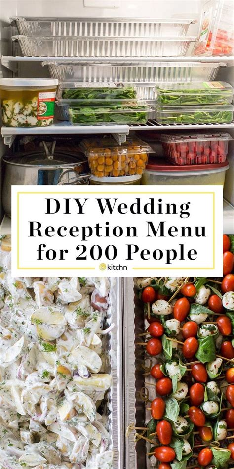 a diy wedding reception for 200 the menu with planning