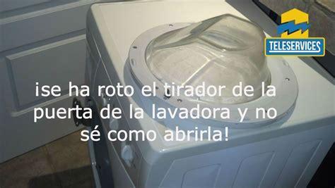 no puedo abrir la lavadora