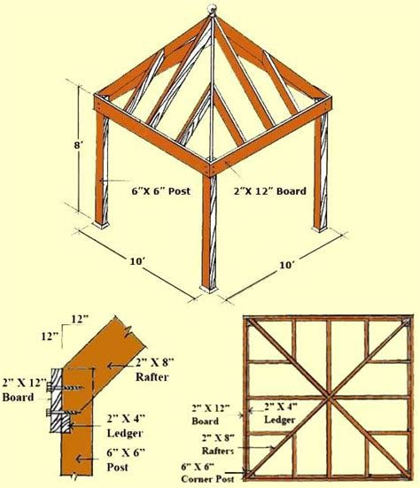 square gazebo plans  woodworking projects plans