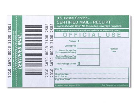 use certified mail when returning unsatisfactory product