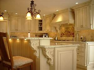 Corbel kitchen traditional with white painted wood tile
