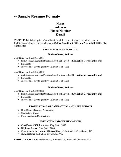 Resume Address Format by Name Address 3 Resume Format Cover Letter Template