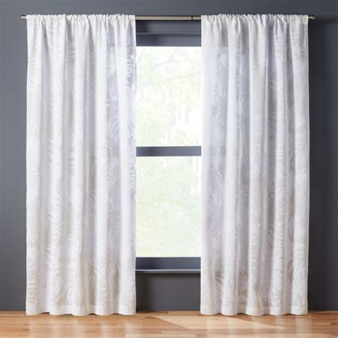 Drapes Login - the hill side palm leaves curtain panel cb2