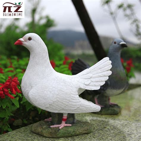 imitation animal sculpture courtyard garden ornaments resin home decorations dove office desktop