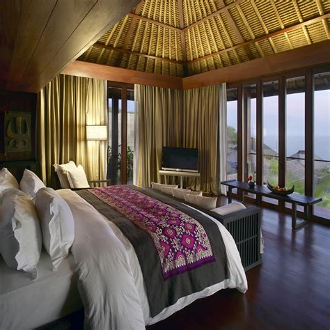 indonesian influenced bed room decor  largest