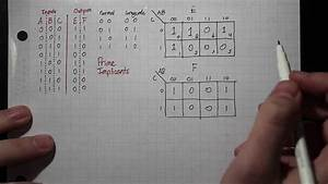 How To  Combinational Logic  Truth Table  U2192 Karnaugh Map