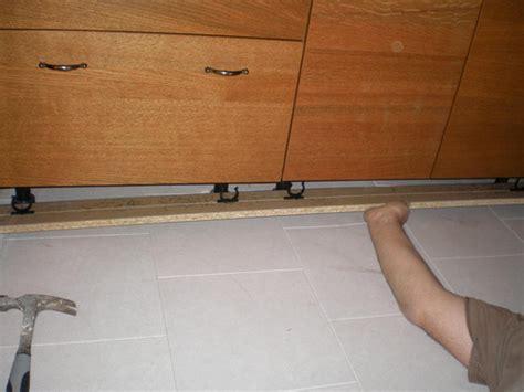 20090725  Installing Ikea Toe Kick 1  Very Important To
