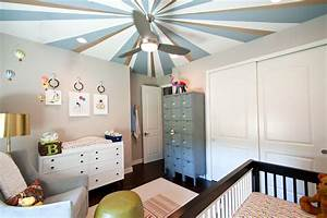 Brushed nickel ceiling fan nursery contemporary with