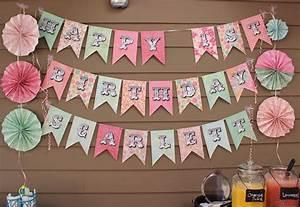 Scrapbooking paper banner sign sohosonnet creative living for Diy letter banner