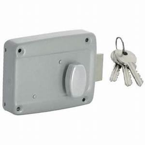 serrure porte de garage 105 horizontale axe a 70 a bouton With porte de garage enroulable avec bloc serrure