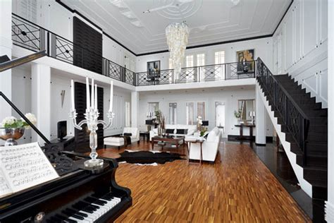 luxurious house design  russian architects black