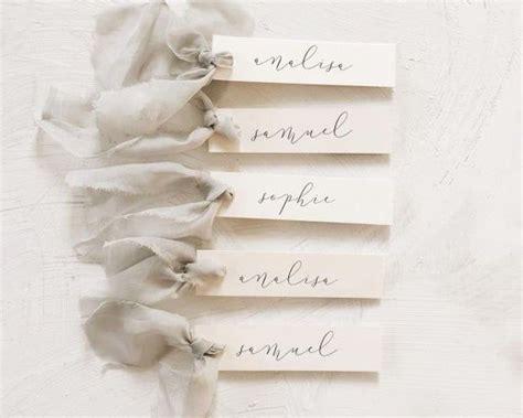 slender  tag slim wedding place card simple place