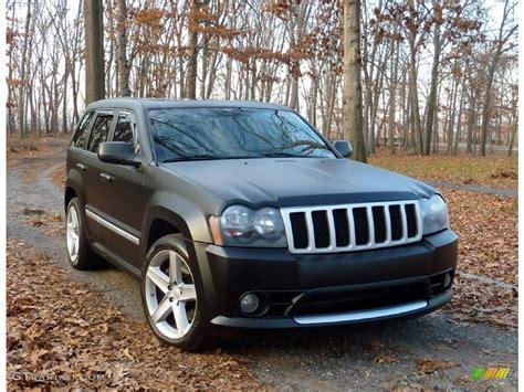 white jeep grand cherokee custom 2006 custom matte black jeep grand cherokee srt8 58915565