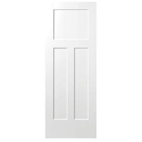 home depot solid core masonite 28 in x 80 in winslow primed 3 panel solid composite interior door slab 83090
