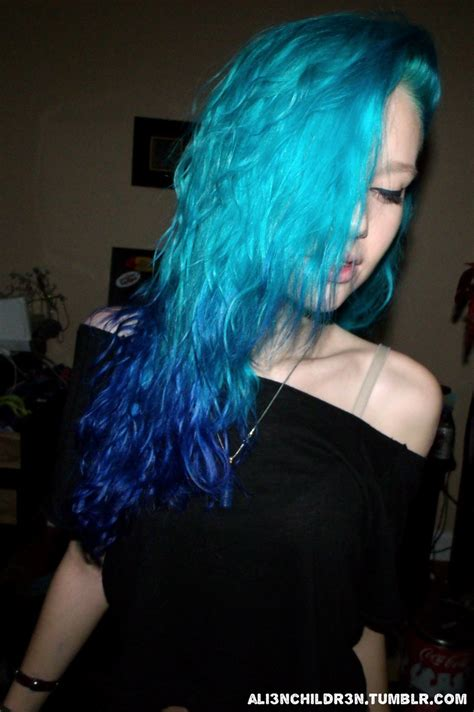 17 Best Ideas About Teal Ombre Hair On Pinterest Teal