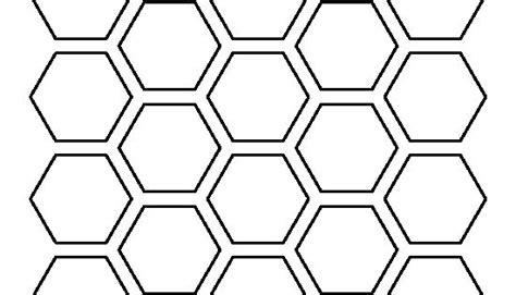 honeycomb pattern   printable outline  crafts