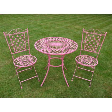 table de jardin ronde en fer forg 233 avec deux chaises pliantes