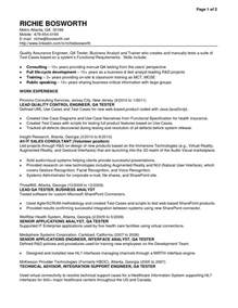 Manual Testing Resume Sle 2 Experience by 28 Manual Testing Resume Test Engineer Sle Resume Sales And Marketing Resume Sle Resume