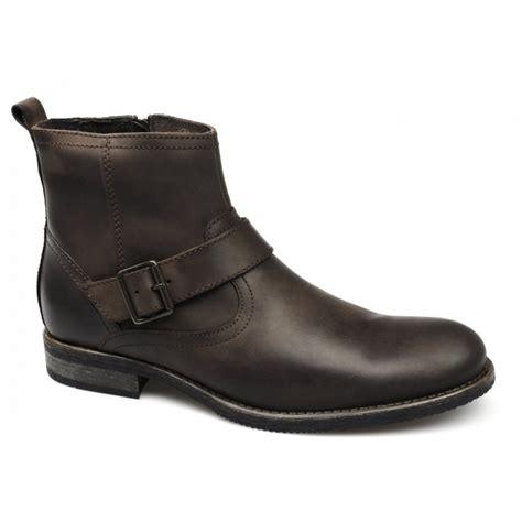 mens brown biker boots ikon evans mens leather buckle zip biker boots brown buy