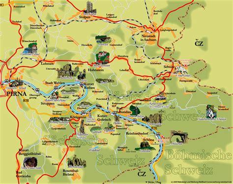 Sächsische Schweiz Karte