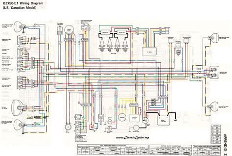 Kawasaki Kz750 Wiring Diagram by Kawasaki Motorcycle Wiring Diagrams