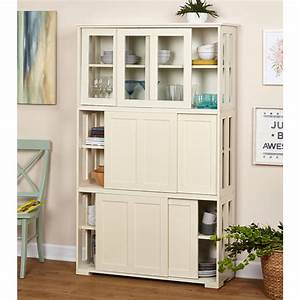 Wood cabinet glass doors stackable storage living room for Kitchen colors with white cabinets with sliding glass door stickers