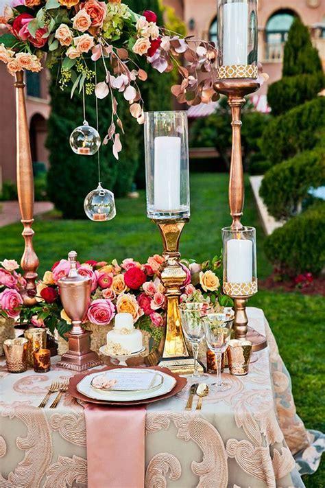 rose gold metallic wedding color ideas   puff