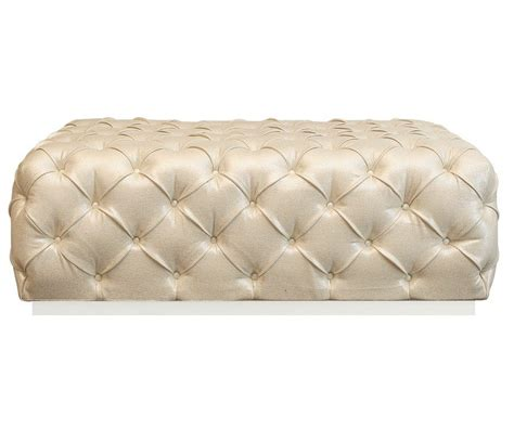 Ottomans Uk by Tufted Chagne Fabric Ottoman With Stainless Steel Base