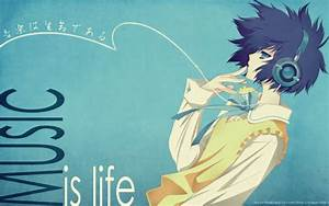 Anime music! images Music is life wallpaper and background ...
