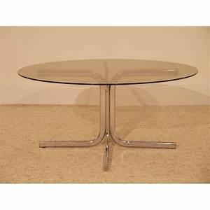 Table Basse En Verre Ronde : table basse ronde vintage annee 70 la maison retro ~ Teatrodelosmanantiales.com Idées de Décoration