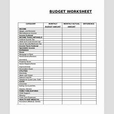 Monthly Budget Worksheet , Simple Monthly Budget Template , Simple Monthly Budget Template And