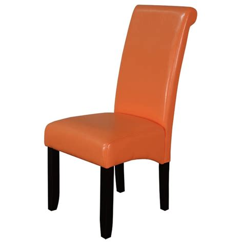 orange leather dining chairs home furniture design