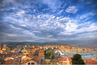 Cannes France Wallpaperaccess Clouds Cities Sky Houses