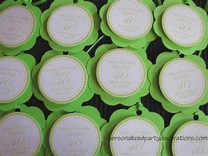 Adult Birthday Party Favor Tags