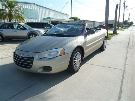 2005 Chrysler Sebring Gas Mileage by Find Used 2005 Chrysler Sebring Convertible 4cylinder Gas