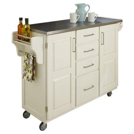 Kitchen Utility Cart With Drawers by Wood Kitchen Cart With Four Drawers And A Stainless Steel