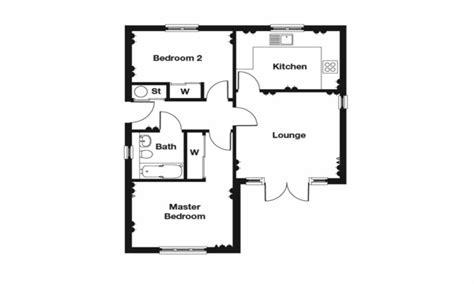 Floor Plans Simple Floor Plans, 2 Bedroom Bungalow Floor