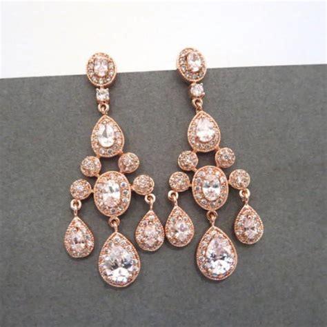 gold bridal earrings gold chandelier earrings