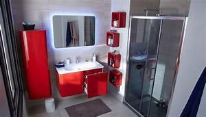 Meuble Haut De Salle De Bain : meuble haut salle de bain rouge ~ Louise-bijoux.com Idées de Décoration