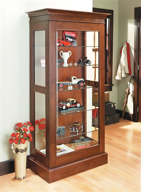 display cabinet woodworking project woodsmith plans