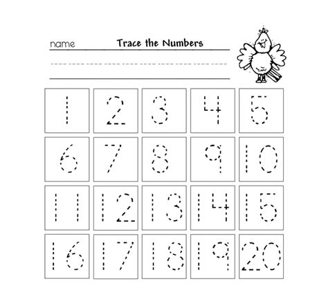 free printable preschool number worksheets 1 to 10 to 20